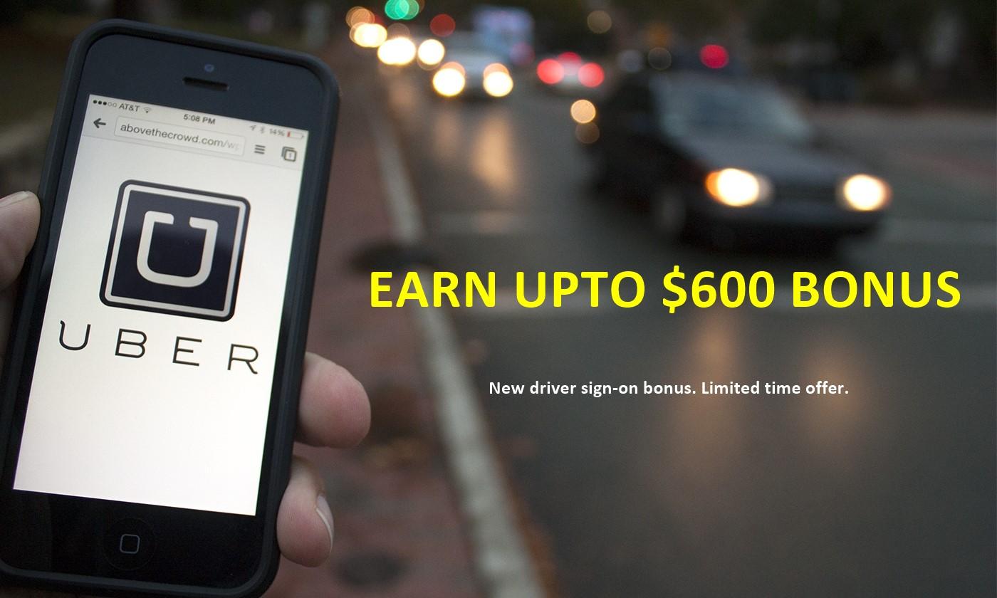 $600 Uber New Driver Sign-up Bonus