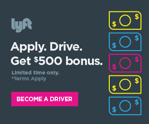 Bonus for Signomg up to Drive with Lyft