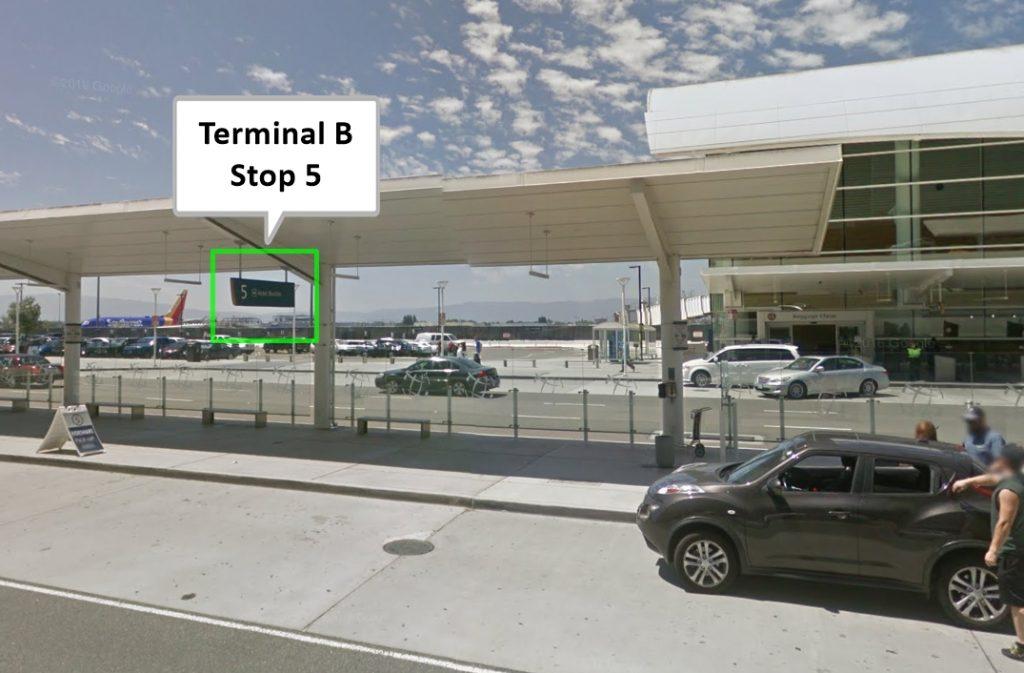 Uber/Lyft Pickup - SJC Terminal B Stop 5