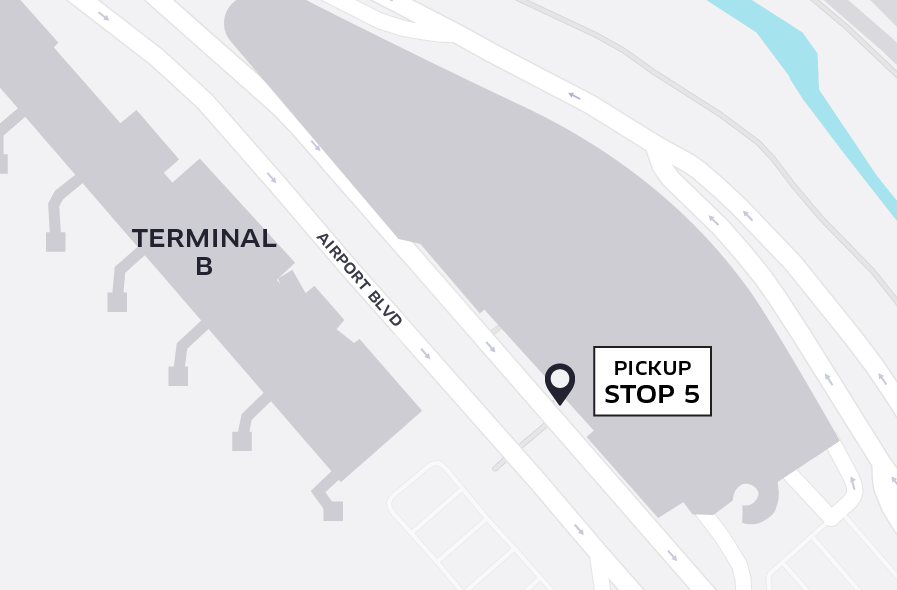 Uber Pickup at SJC Terminal B