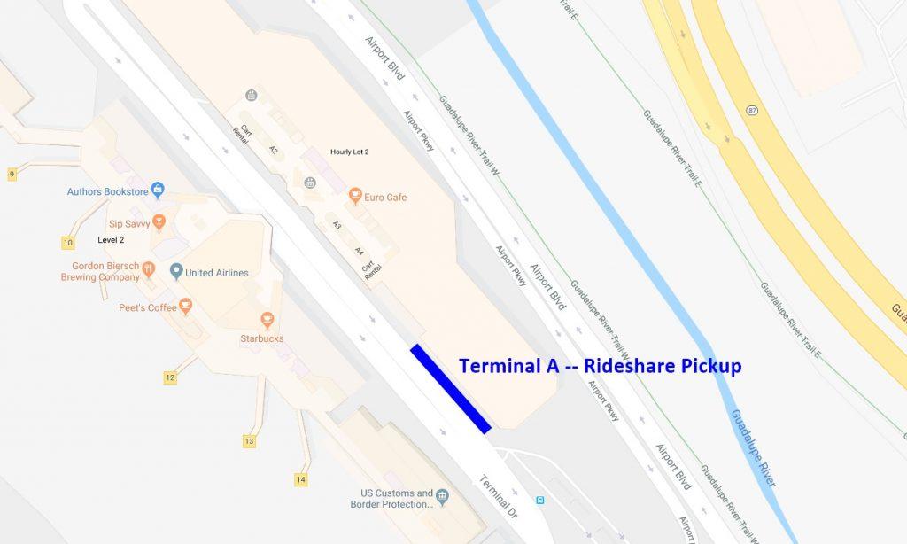 SJC Terminal A Rideshare Pickup