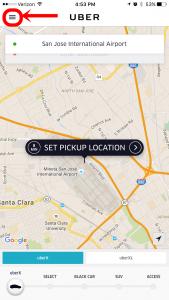 Uber App Settings