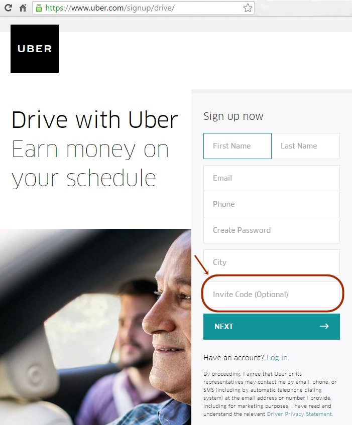Uber Driver Sign Up